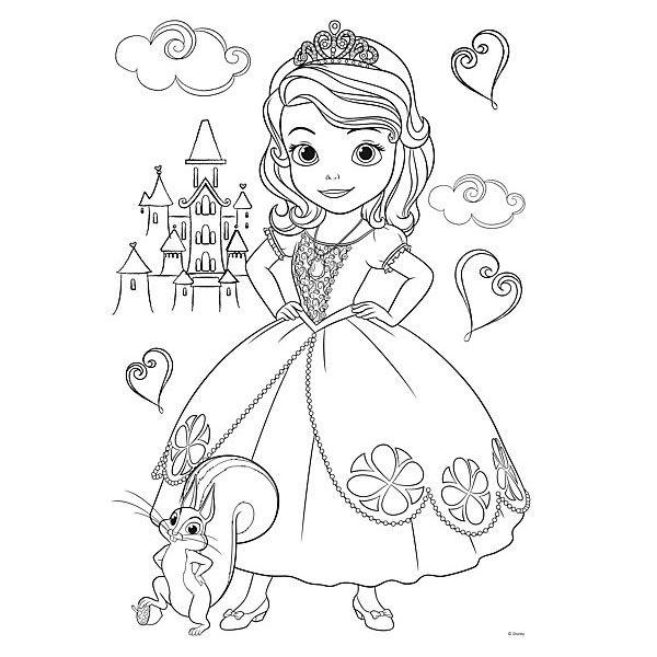 пазл раскраска дисней принцесса софия 20 элементов