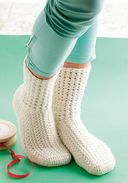 Двусторонние носочки. Крючок — фото, картинка — 1