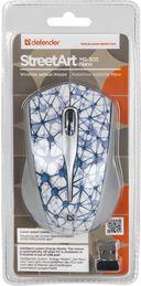 Мышь беспроводная Defender StreetArt MS-305 Nano (белая) — фото, картинка — 1