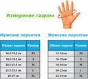 Перчатки для фитнеса SU-117 (M; чёрные/серые/голубые) — фото, картинка — 1