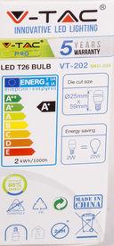 Светодиодная лампа V-TAC VT-202 2 ВТ, Е14, 3000К, Samsung — фото, картинка — 4