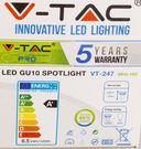 Светодиодная лампа с линзой V-TAC VT-247 6,5 ВТ, GU10, 3000К, Samsung — фото, картинка — 4